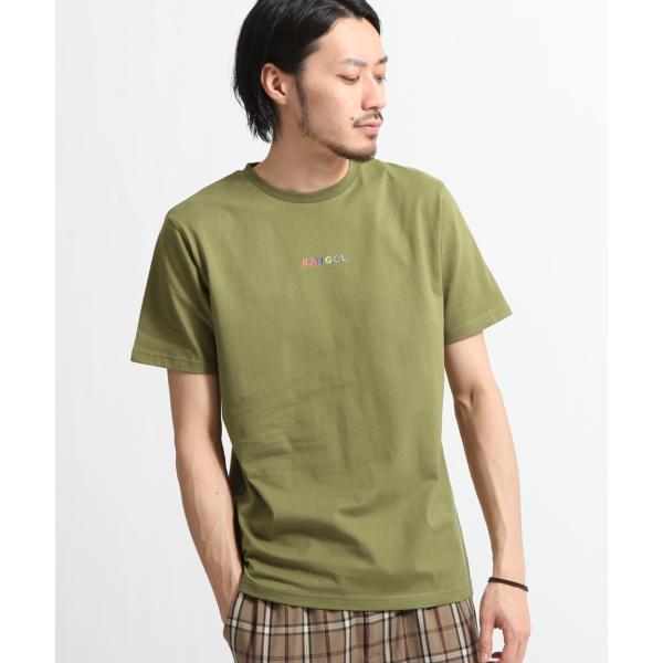 Tシャツ メンズ KANGOL ブランド カットソー シンプル 半袖 クルーネック コットン 刺繍 ロゴ 袖ワッペン カンゴール ファッション (kgsa-zi1908) D|zip|26