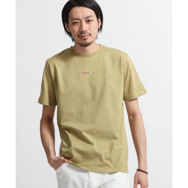 Tシャツ メンズ KANGOL ブランド カットソー シンプル 半袖 クルーネック コットン 刺繍 ロゴ 袖ワッペン カンゴール ファッション (kgsa-zi1908) D|zip|27