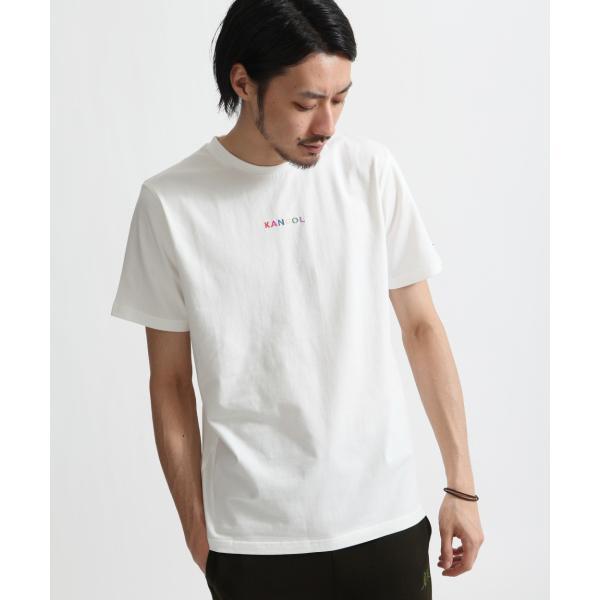 Tシャツ メンズ KANGOL ブランド カットソー シンプル 半袖 クルーネック コットン 刺繍 ロゴ 袖ワッペン カンゴール ファッション (kgsa-zi1908) D|zip|28