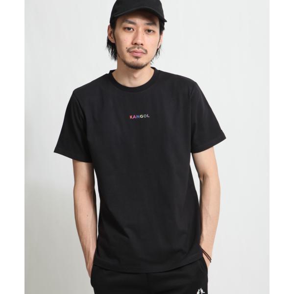 Tシャツ メンズ KANGOL ブランド カットソー シンプル 半袖 クルーネック コットン 刺繍 ロゴ 袖ワッペン カンゴール ファッション (kgsa-zi1908) D|zip|29