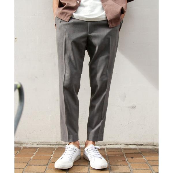 イージーパンツ メンズ アンクルパンツ スラックス 半端丈 ロングパンツ ストレッチ 無地 チェック ファッション (zp081829) D|zip|19
