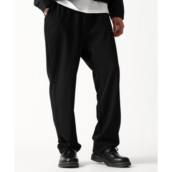 テーパードパンツ メンズ ワイドパンツ スラックス スーツ生地 ストレッチ 無地 チェック イージーパンツ ファッション (zp081830) D|zip|21