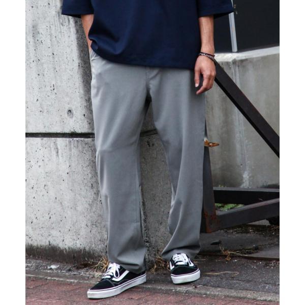 テーパードパンツ メンズ ワイドパンツ スラックス スーツ生地 ストレッチ 無地 チェック イージーパンツ ファッション (zp081830) D|zip|23