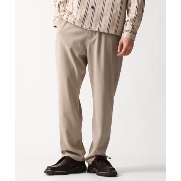テーパードパンツ メンズ ワイドパンツ スラックス スーツ生地 ストレッチ 無地 チェック イージーパンツ ファッション (zp081830) D|zip|26