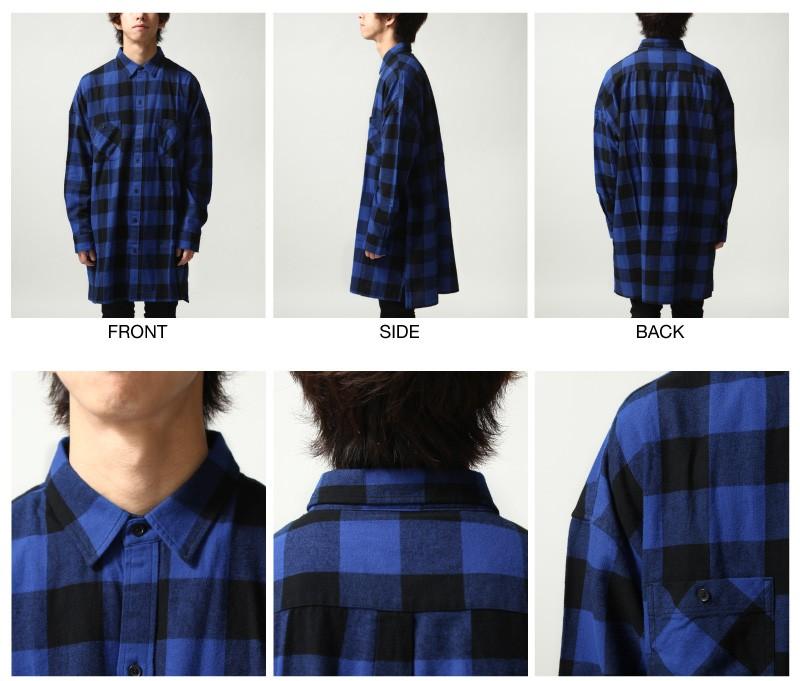 法藍絨襯衫長大衣