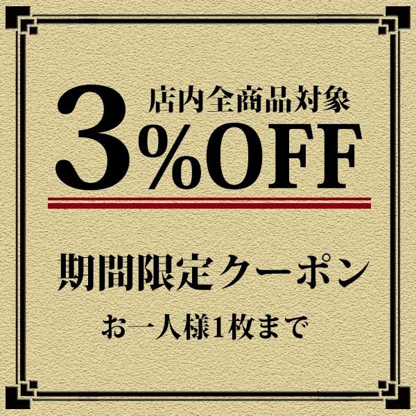 全商品対象3%オフ!期間限定クーポン・併用可能